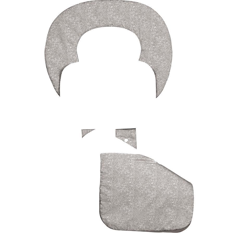 odenwälder Letnia wkładka do wózka ergonomiczna Babycool, New Woven mandel