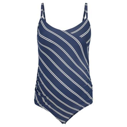 noppies Zwempak Noreen jurk met blauwe streep in zwangerschapskleding
