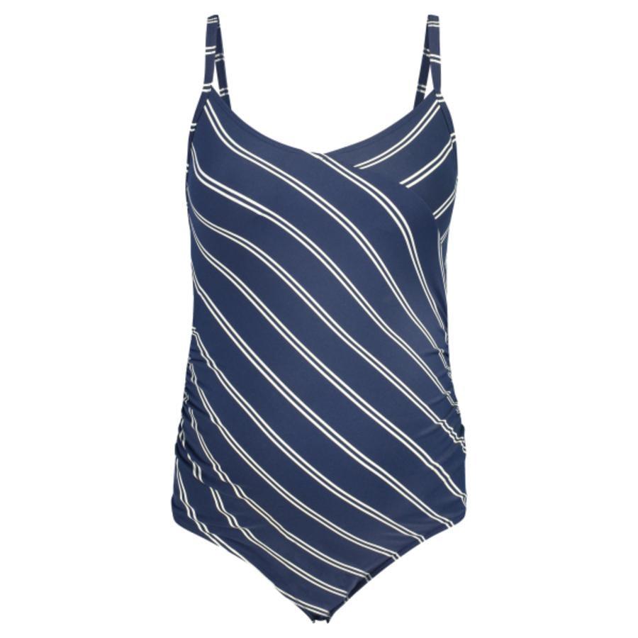 noppies Těhotenské plavky Noreen dress blues stripe
