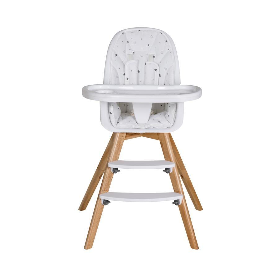 Schardt Dětská židlička Holly hvězdičky šedé