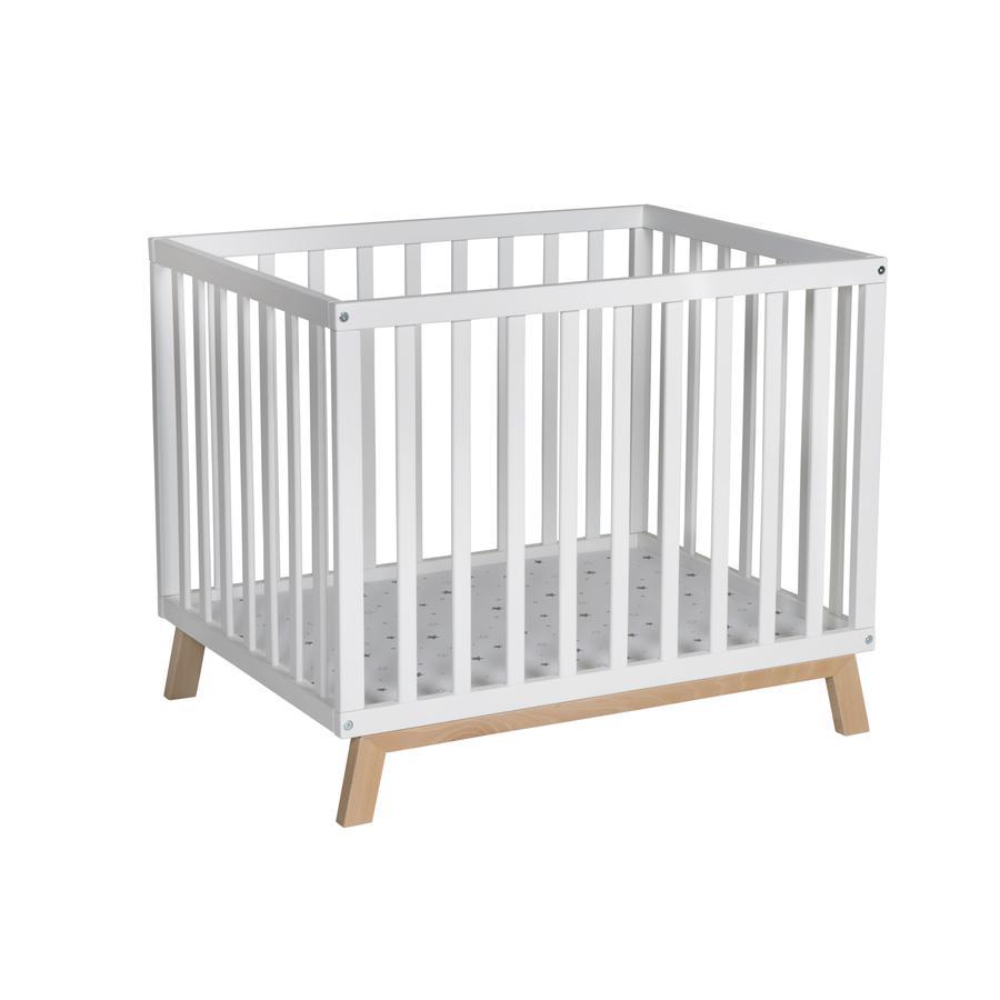 Schardt Parc bébé Holly blanc/naturel étoiles gris 75x97 cm