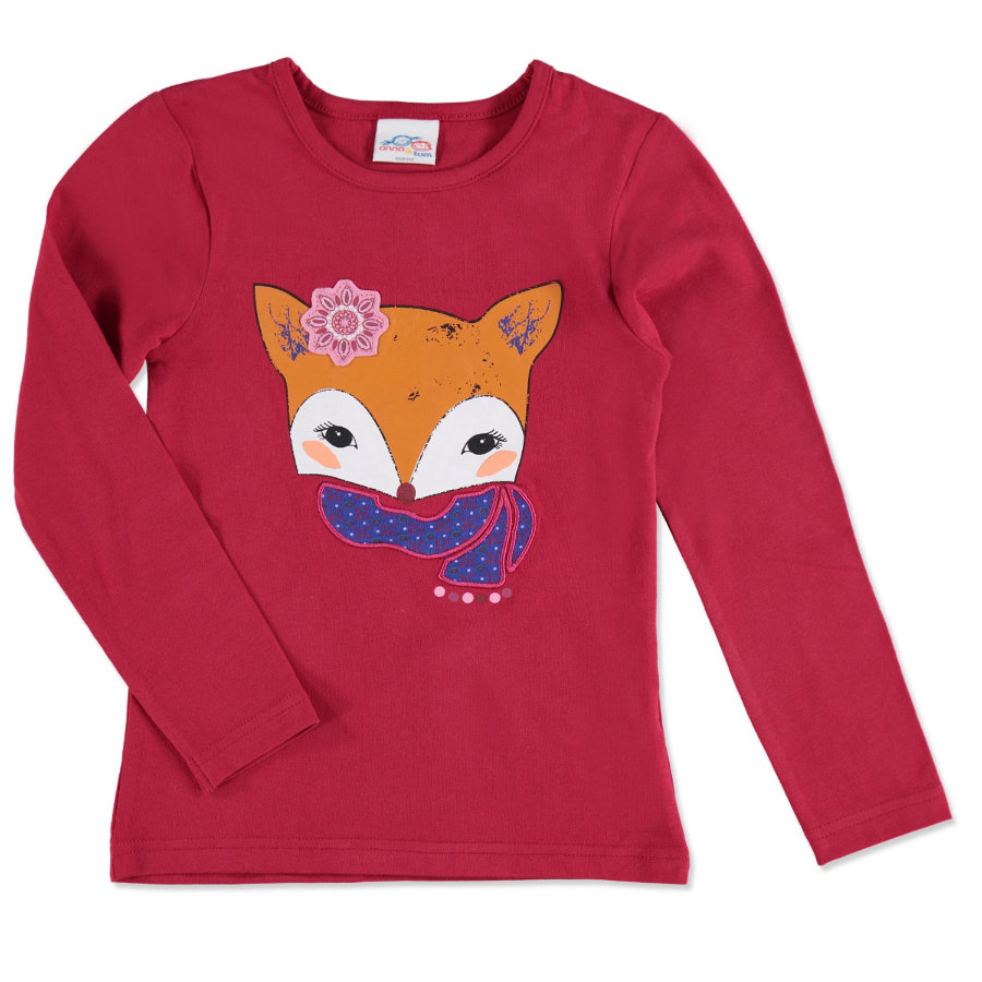 anna & tom Girls Longsleeve Fuchs rot