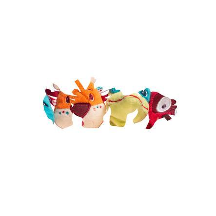 Lilliputiens Marionnette à doigt enfant jungle, 4 pièces