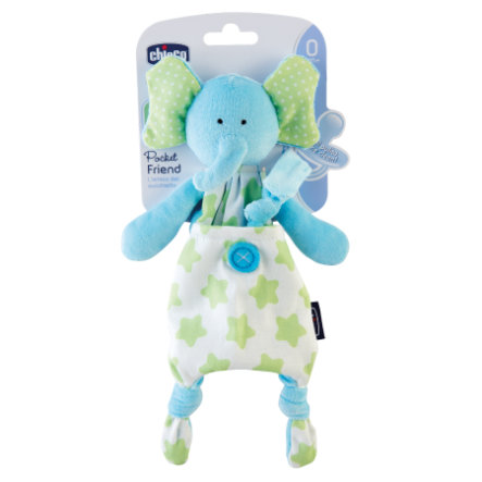 "chicco Schnuller mit Kuscheltier ""Pocket Friend Elefant"""