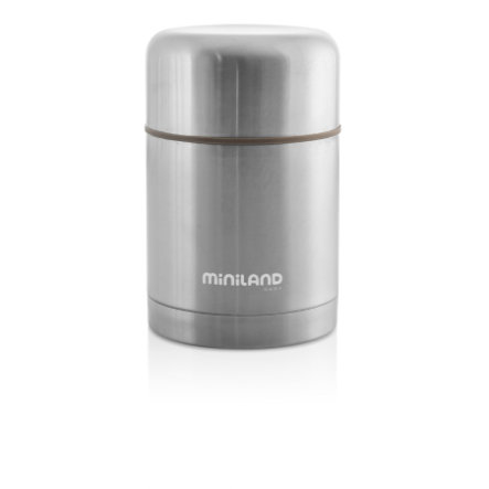 miniland steel food thermos Thermobehälter grau 600ml