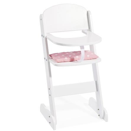 howa® Vysoká židle pro panenky bílá