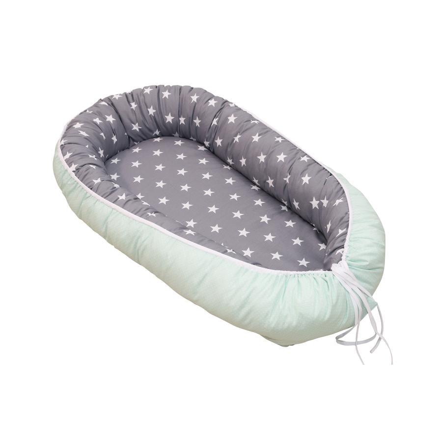 Ullenboom Nid pour bébé cocon menthe/gris 55x95 cm