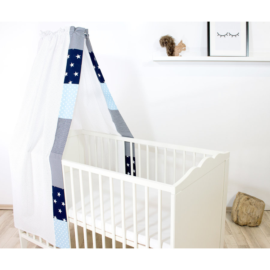 Ullenboom Baby Baldachim 135x200 cm Niebieski Jasnoniebieski Szary