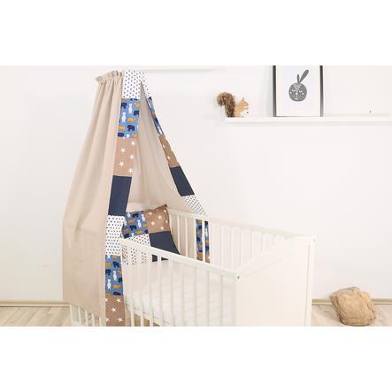 Ullenboom Cama de bebé con dosel y Bal dach in 135x200 cm Oso de arena