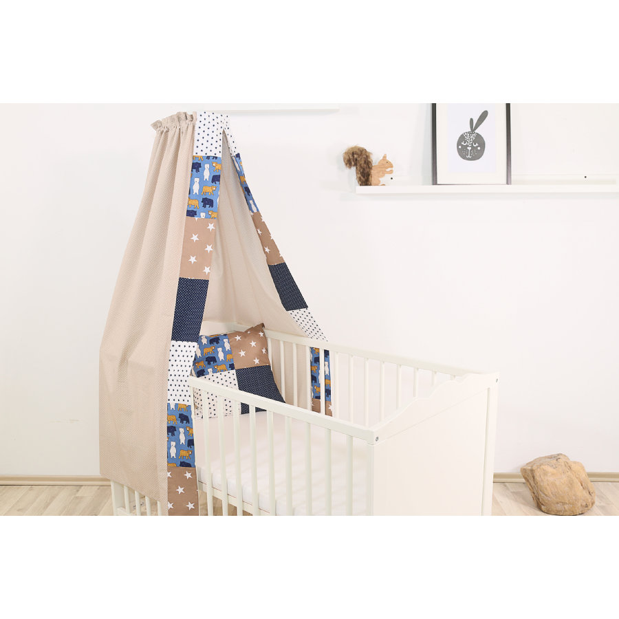 Ullenboom Baby Sengehimmel 135x200 cm Sand Bjørn