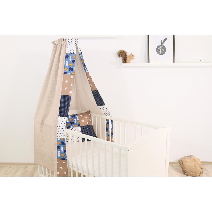 Ullenboom Ciel de lit enfant baldaquin 135x200 cm ours sable