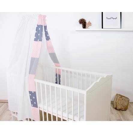 Ullenbloom Baby Himmelseng & Baldakin 135x200 cm Rosa Grå