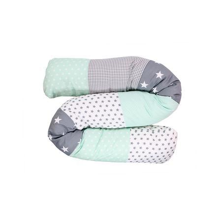 Ullenboom Tour de lit traversin enfant menthe/gris 160 cm