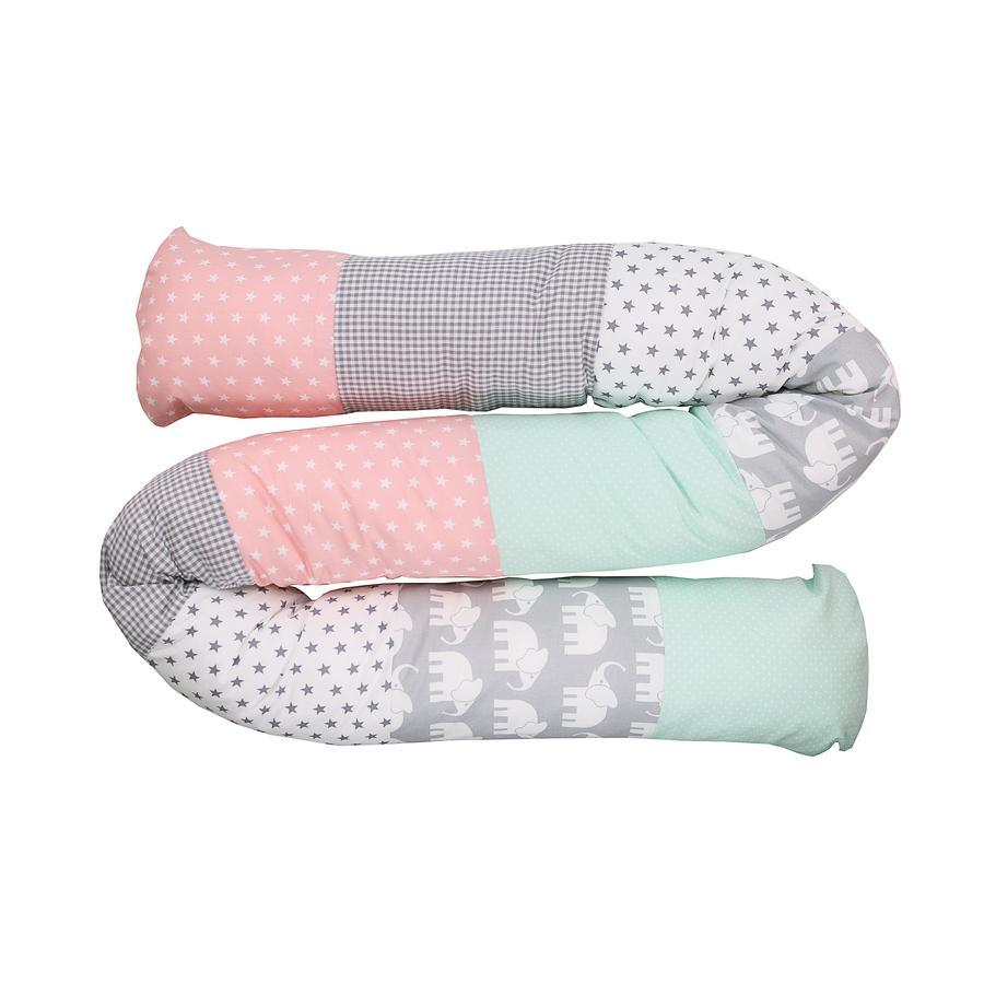 Ullenboom Dětská postel had slon máta růžová 200 cm