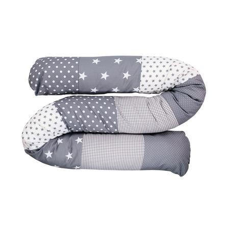 Ullenboom Baby-Bettschlange Graue Sterne 200 cm