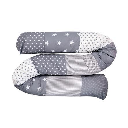 Ullenboom Tour de lit traversin enfant étoiles gris 200 cm