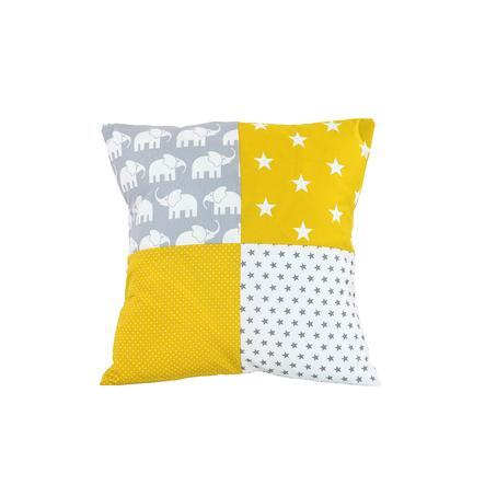 Ullenboom Patch pokrywa poduszki roboczej 40 x 40 cm żółty słoń