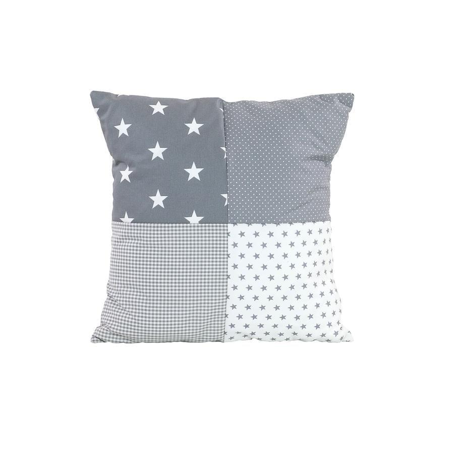 Ullenboom Federa cuscino a toppe 40 x 40 cm stelle grigio