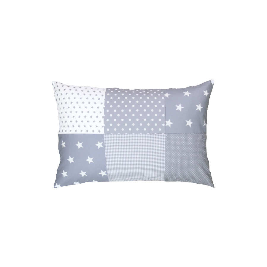 Ullenboom Patch pokrywa poduszki roboczej 40 x 60 cm szare gwiazdy