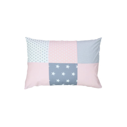 Ullenboom Patch pokrywa poduszki roboczej 40 x 60 cm Rosa szara