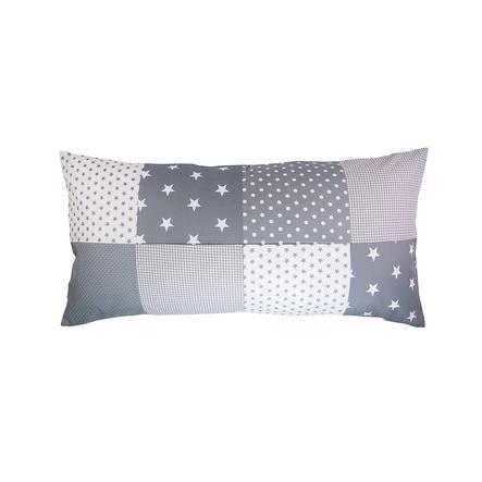 Ullenboom Patch pokrywa poduszki roboczej 40 x 80 cm szare gwiazdy