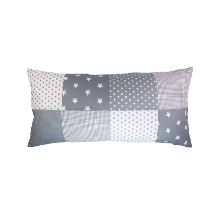 Ullenboom Patchwork Kissenbezug 40 x 80 cm Graue Sterne