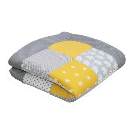 Ullenboom deka a vložka do ohrádky 100 x 100 cm slon, žlutá