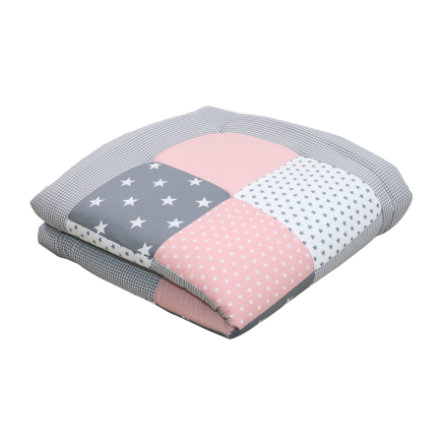 Ullenboom Coperta per gattonare, 100x100 cm, grigio rosa