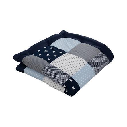 Ullenboom deka a vložka do ohrádky 120 x 120 cm modrá, světle modrá, šedá