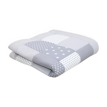 Ullenboom deka a vložka do ohrádky 120 x 120 cm šedé hvězdičky