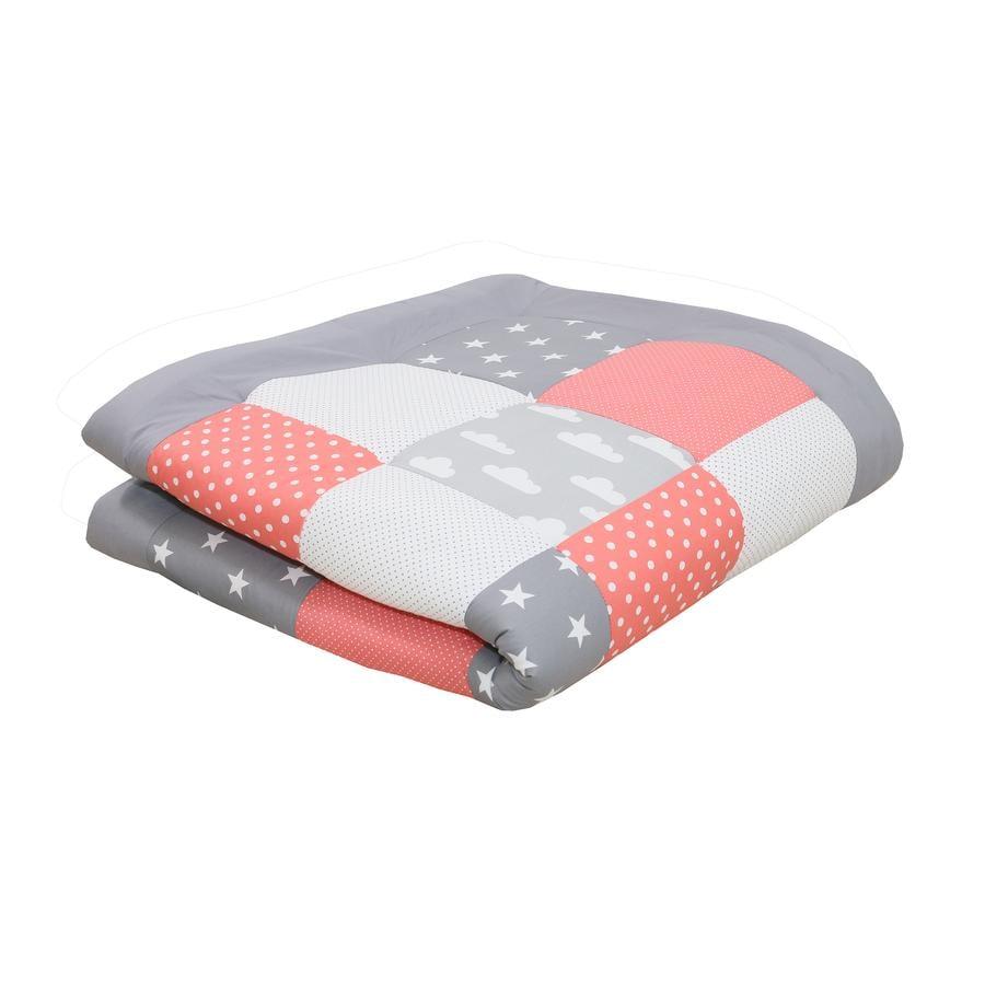 Ullenboom deka a vložka do ohrádky 120 x 120 cm korálové mráčky
