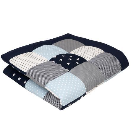 Ullenboom deka a vložka do ohrádky 140 x 140 cm modrá, světle modrá, šedá