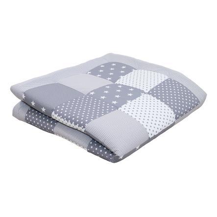 Ullenboom deka a vložka do ohrádky 140 x 140 cm šedé hvězdičky