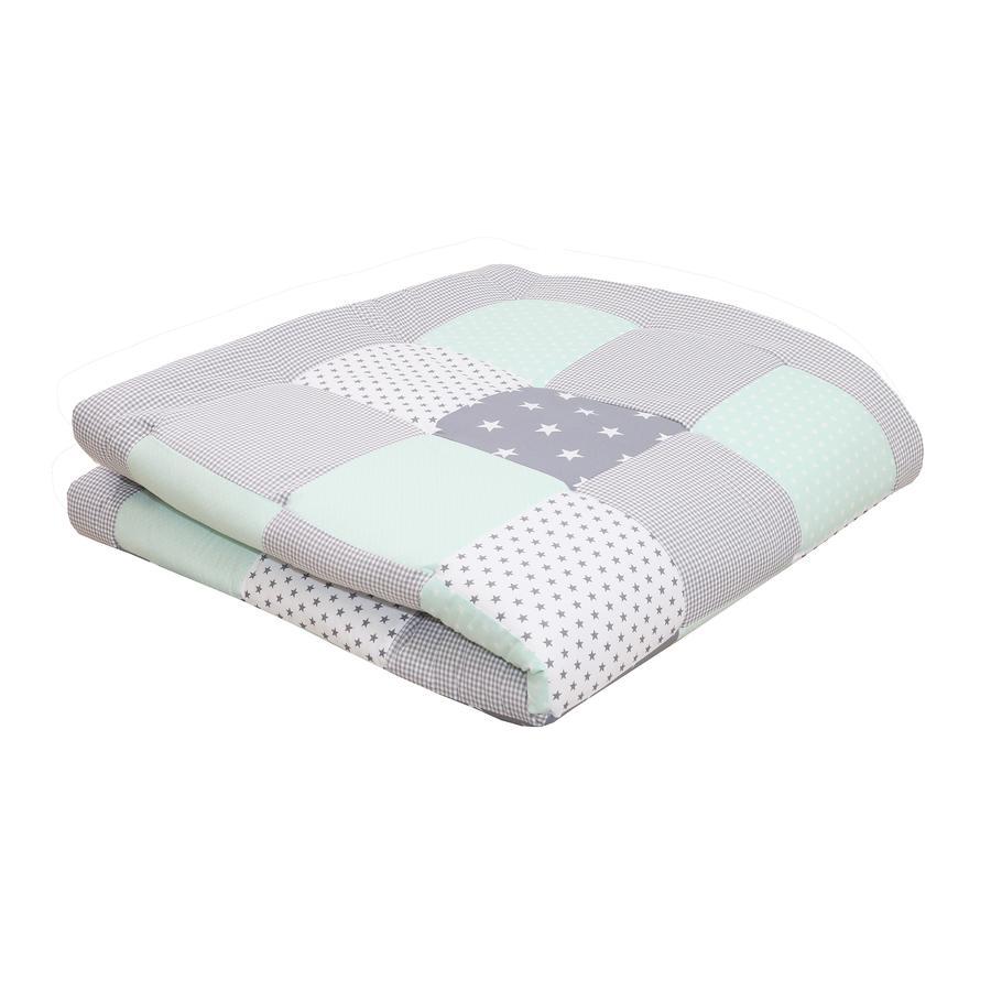Ullenboom deka a vložka do ohrádky 140X140 cm mentolovo-šedá