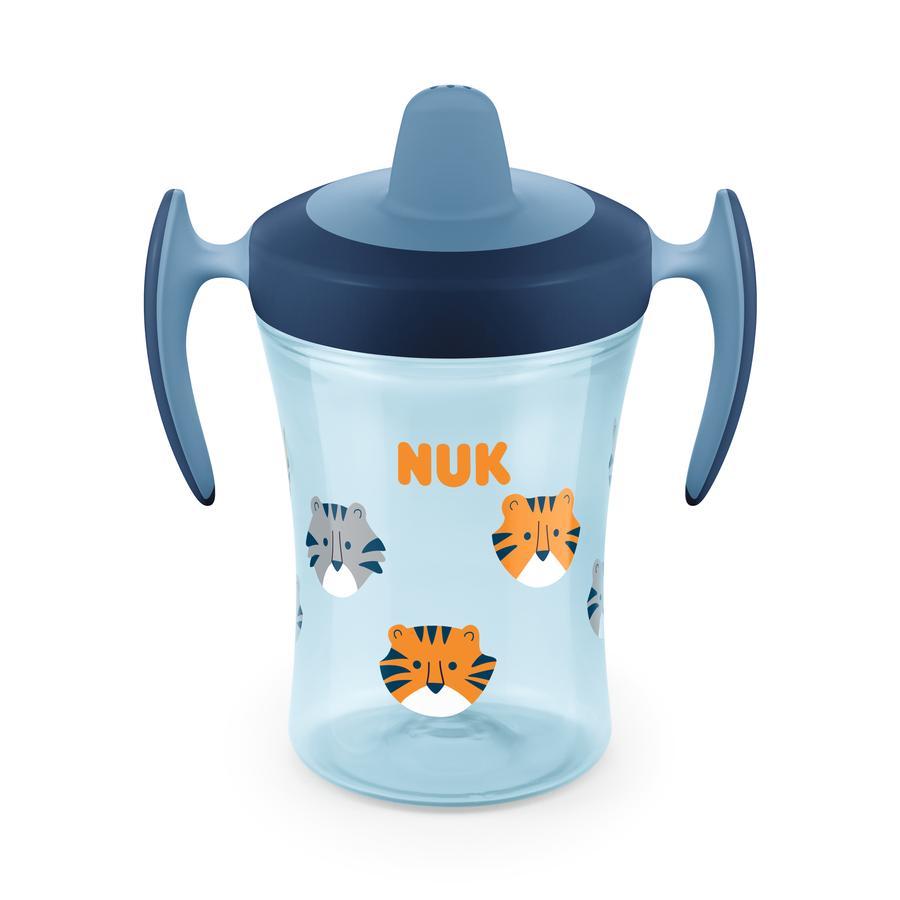 NUK Trinklernflasche Evolution Trainer Cup ab dem 6. Monat blau Design: Tiger