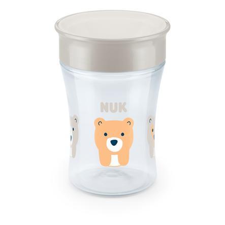 NUK Trinklernbecher Evolution Magic Cup ab dem 8. Monat weiß Design: Bär