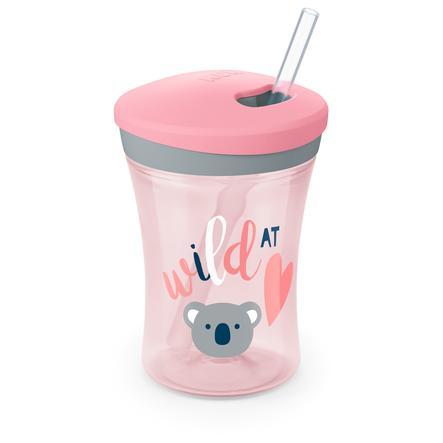 NUK Evolution Action Cup drik kop fra den 12. måned lyserød Design: Koala