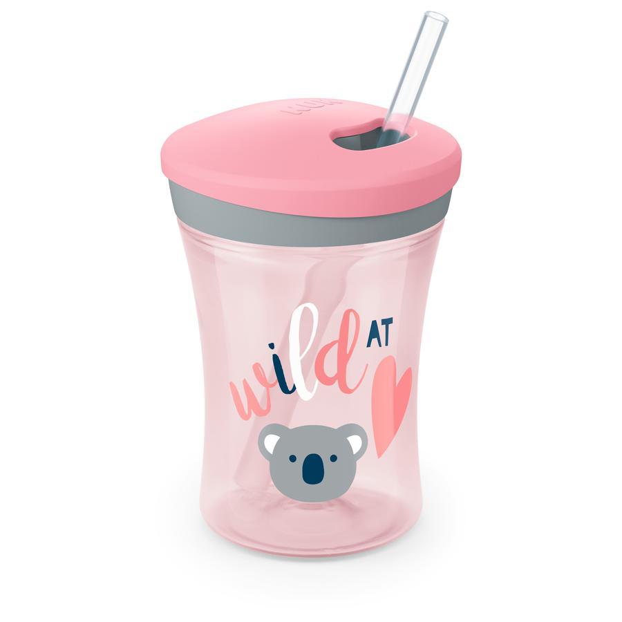 NUK Trinklernbecher Evolution Action Cup ab dem 12. Monat rosa Design: Koala