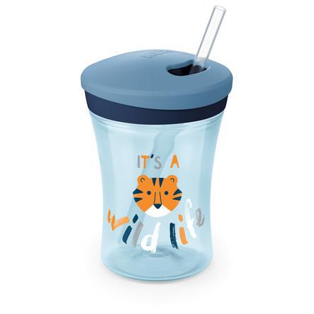 NUK Drikkekopp Evolution Action Cup fra 12. måned blå Design: Tiger