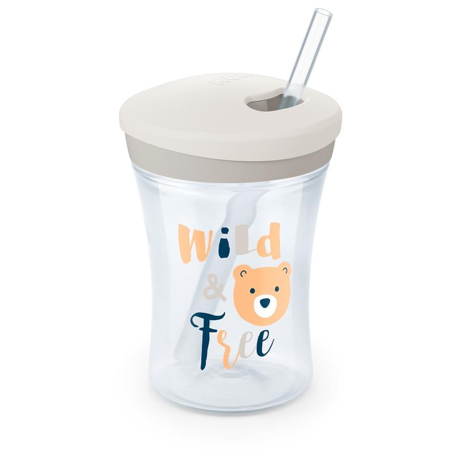 NUK Evolution Action Cup drikkekopp fra 12. måned hvit Design: bjørn