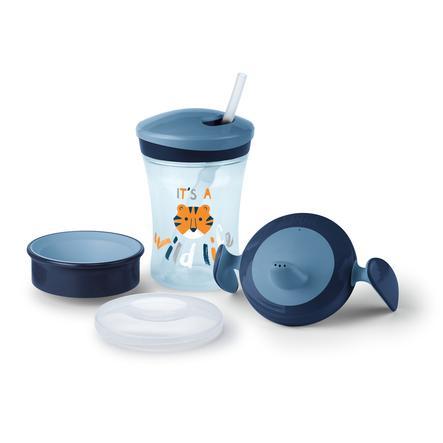 NUK Trinklernset Evolution All-in-1 blau Design: Tiger