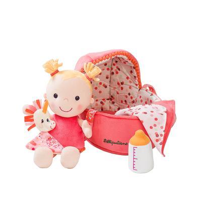 Lilliputiens Stoffpuppe Baby Louise mit Tragetasche und Zubehör
