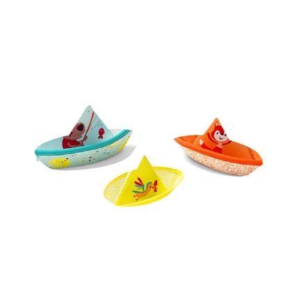 Lilliputiens Kleine boten 3 stuks - Zwemplezier