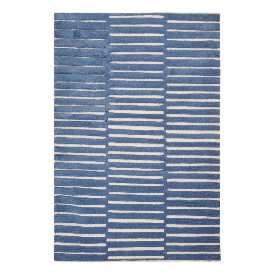 LIVONE Spiel- und Kinderteppich Schurwolle Happy Rugs Photo blau/natur, 160 x 230 cm
