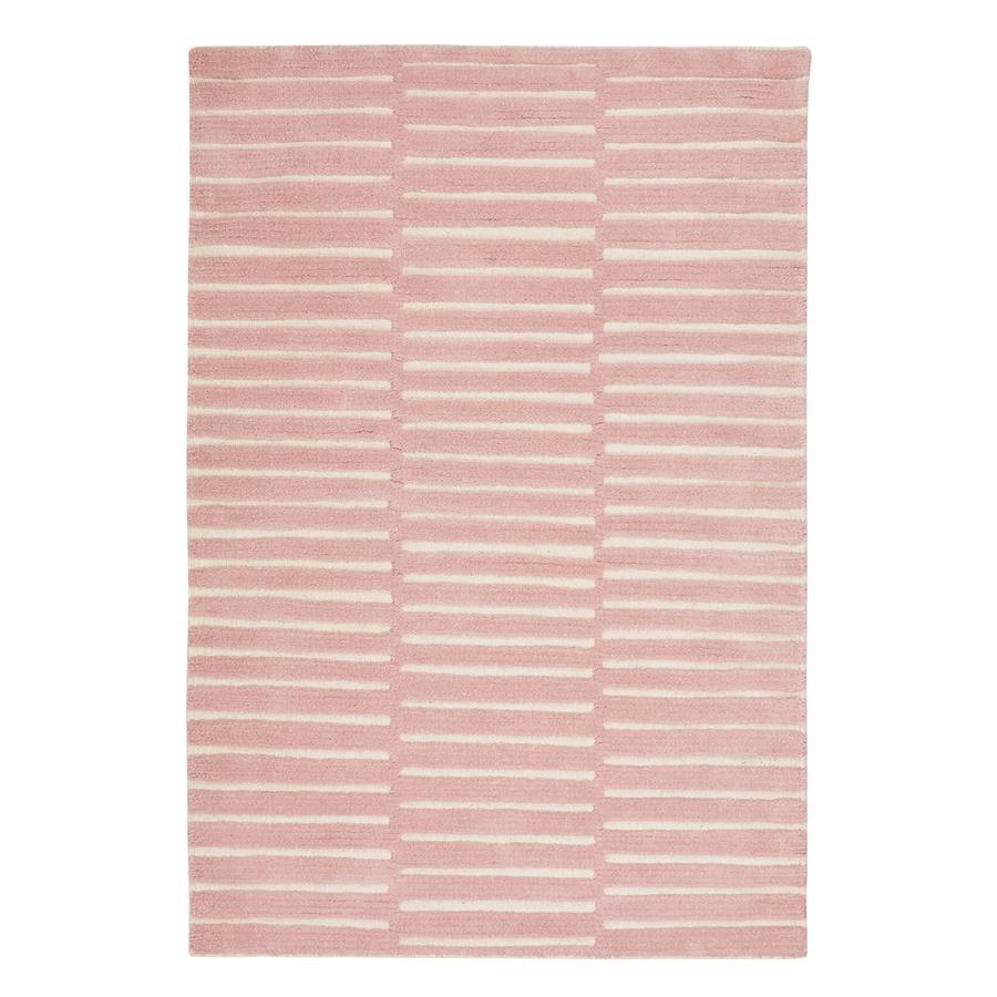 LIVONE Spiel- und Kinderteppich Schurwolle Happy Rugs Photo rosa/natur, 120 x 180 cm