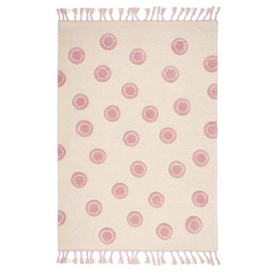LIVONE Barnmatta Happy Rugs Ring natur/rosa, 120 x 180 cm