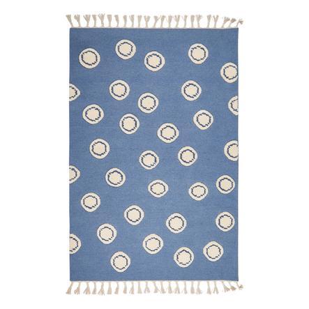 LIVONE Tapijt Scheerwol Happy Rugs Ring blauw/natuur 160 x 230 cm