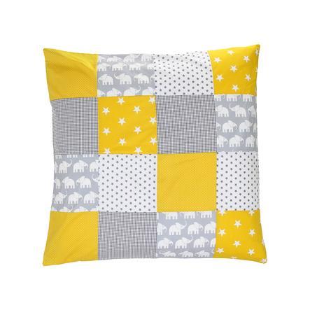Ullenboom Patchwork tyynyliina 80 x 80 cm norsu keltainen