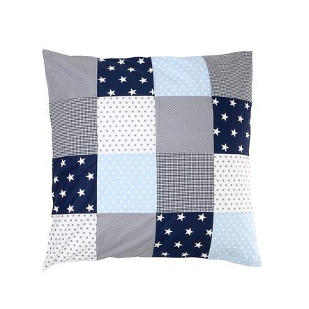 Ullenboom Patch pokrywa poduszki roboczej 80 x 80 cm niebieski jasnoniebieski szary