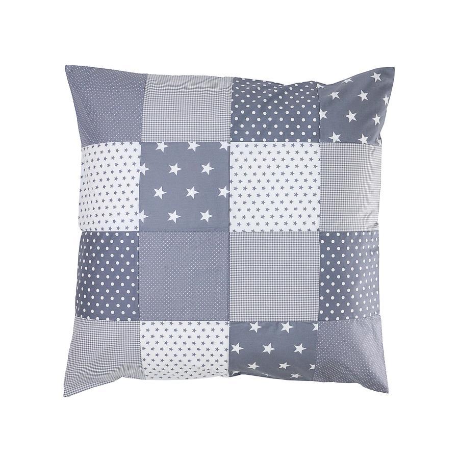 Ullenboom Patch pokrywa poduszki roboczej 80 x 80 cm szare gwiazdy